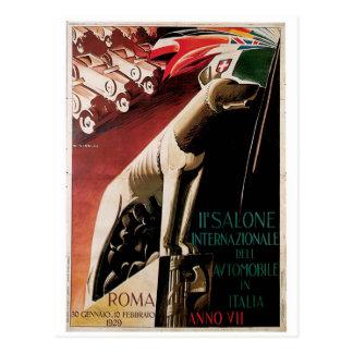 1929 11th Salone Internazional Dell Automobile Postcard
