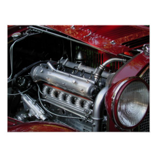 1929 Alfa Romeo 1750 Roadster Poster