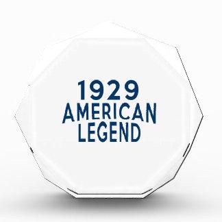 1929 American Legend Birthday Designs Acrylic Award