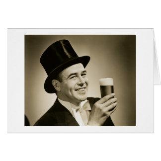 1929 Beer Drinker Card