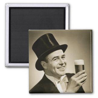 1929 Beer Drinker Fridge Magnets
