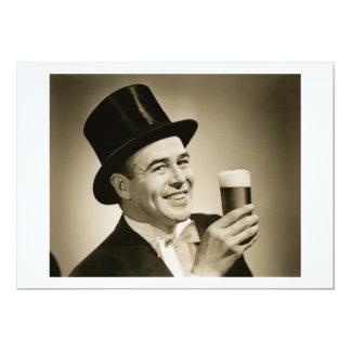 "1929 Beer Drinker 5"" X 7"" Invitation Card"