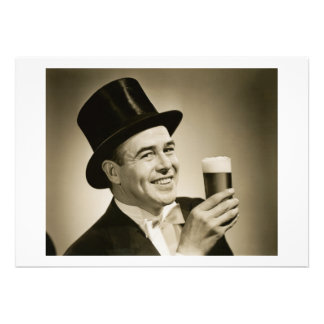 1929 Beer Drinker Invitations