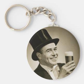 1929 Beer Drinker Key Chains