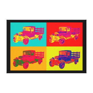 1929 Blue chevy truck 1 ton Pop Art Canvas Prints