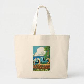 1929 Cap D'Antibes Grand Prix Racing Poster Large Tote Bag