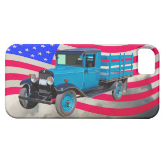 1929 Chevy 1 Ton Truck and American Flag iPhone SE/5/5s Case