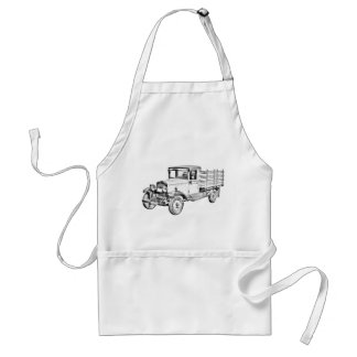 1929 Chevy Truck 1 Ton Stake Body Illustration Adult Apron