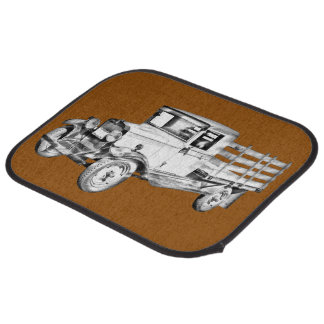 1929 Chevy Truck 1 Ton Stake Body Illustration Car Floor Mat