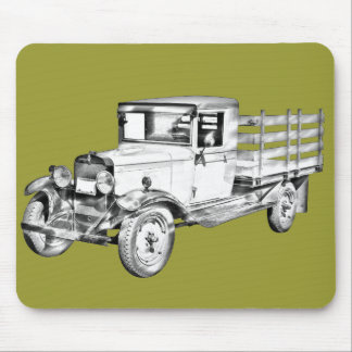 1929 chevy truck 1 ton stake Body Illustration Mouse Pad