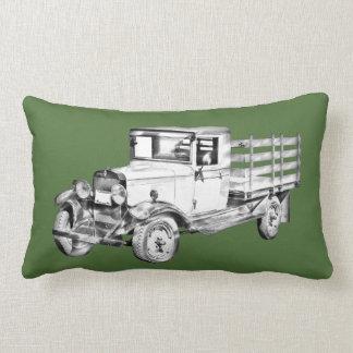 1929 chevy truck 1 ton stake Body Illustration Throw Pillows
