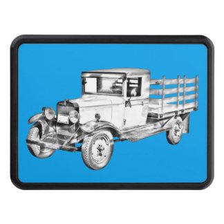 1929 Chevy Truck 1 Ton Stake Body Illustration Tow Hitch Cover