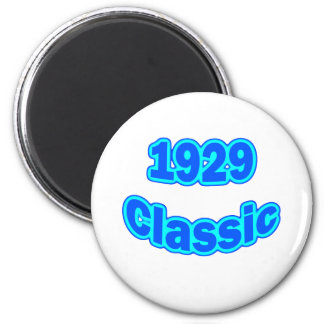 1929 Classic Blue 2 Inch Round Magnet