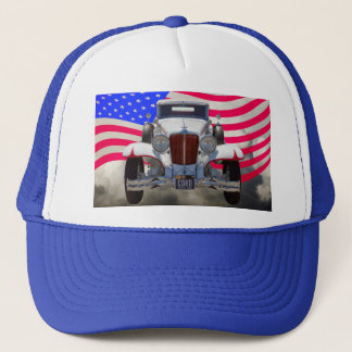 1929 Cord 6-29 Cabriolet and American Flag Trucker Hat