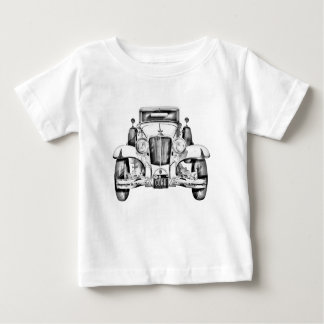 1929 Cord 6-29 Cabriolet Antique Car Illustration Baby T-Shirt