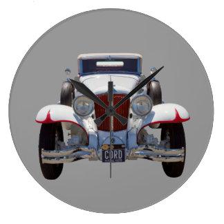 1929 Cord 6-29 Cabriolet Antique Car Large Clock