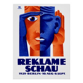1929 German Advertising Exposition Poster