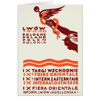 1929 Lwow Eastern International Fair Card