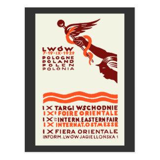 1929 Lwow Eastern International Fair Postcard