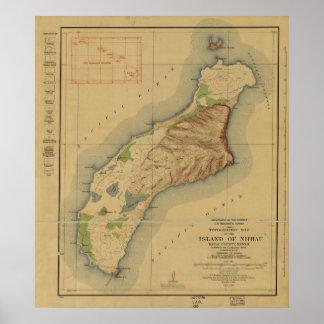 1929 Map of Niihau, Hawaiian Islands Poster