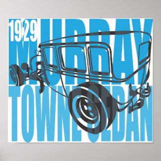 1929 Murray Towne Car Sedan Typo Poster