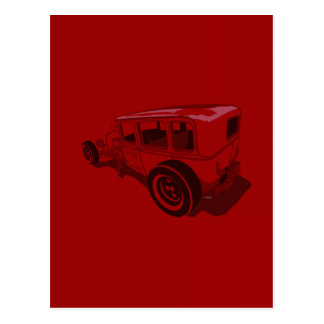1929 Murray Towne Sedan in Red Postcard