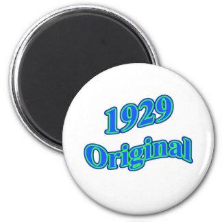 1929 Original Blue Green 2 Inch Round Magnet