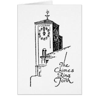 1929 Oviatt Building clock tower Card