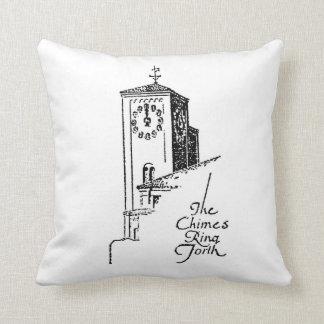 1929 Oviatt Building clock tower Throw Pillow