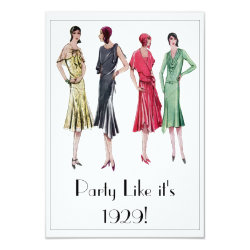1929 Party Invitations