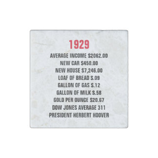 1929 United States Key Statistics Stone Magnet