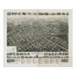 1929 Westfield, NJ Birds Eye View Panoramic Map Poster