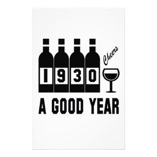 1930 A Good Year Stationery