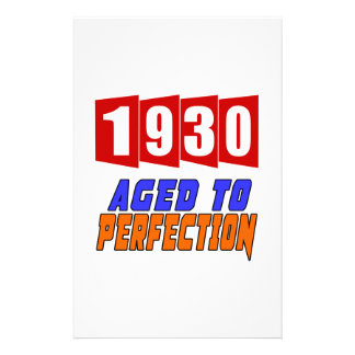 1930 Aged To Perfection Stationery