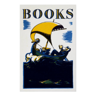 1930 Books Poster