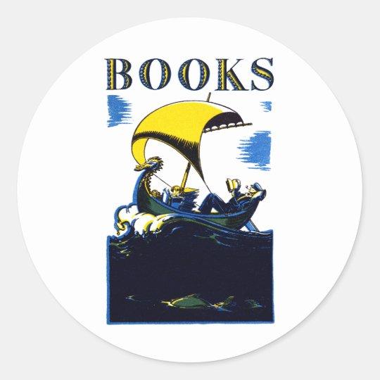 1930 Books Poster Classic Round Sticker