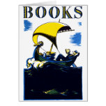 1930 Books Poster Stationery Note Card