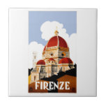 "1930 Florence Italy Travel Poster Tile<br><div class=""desc"">1930 Florence, Italy travel poster depicting the domed cathedral of the city, Santa Maria del Fiore, known as The Duomo. This poster was issued by ENIT—Agenzia nazionale del turismo, known in English as The Italian Government Tourist Board, which is the Italian national tourism board and is responsible for the promoting...</div>"