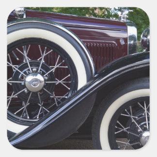 1930 Ford A Classic Car Square Sticker