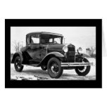 1930 Ford Model A Coupe - B&W Cards