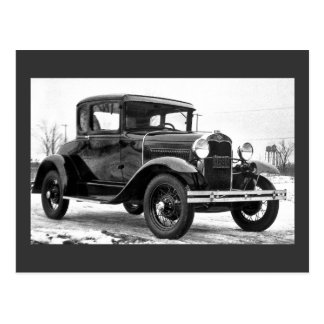 1930 Ford Model A Coupe - B&W Post Card