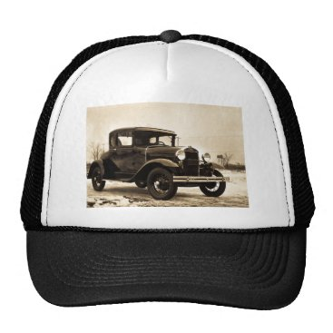 Christmas Themed 1930 Ford Model A Coupe - Vintage Trucker Hat