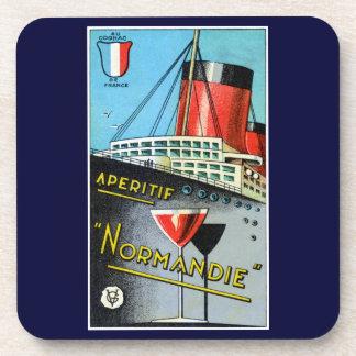 1930 French Apertif Normandie Beverage Coaster