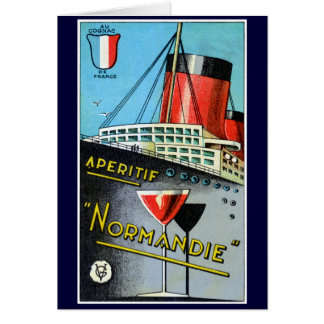 1930 French Apertif Normandie Greeting Cards