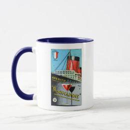 1930 French Apertif Normandie Mug
