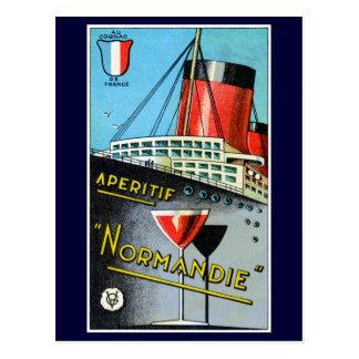 1930 French Apertif Normandie Postcard