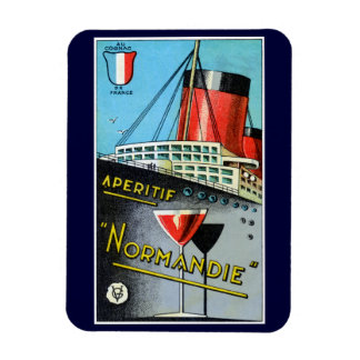 1930 French Apertif Normandie Rectangle Magnets