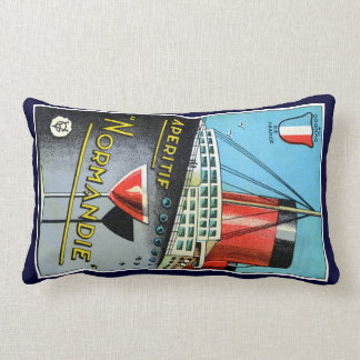 1930 French Apertif Normandie Throw Pillow
