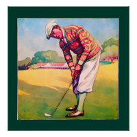 1930 Golfer - Art On Canvas Print