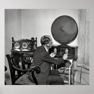 1930 HAM RADIO OPERATOR POSTER